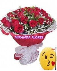 06- BOUQUET 24 ROSAS ALMOFADA Emoticons Do Whatsapp