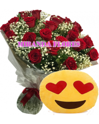 02- BOUQUET 12 ROSAS ALMOFADA Emoticons Do Whatsapp