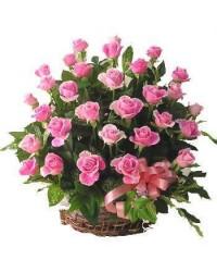 02. Cesta c /30 rosas rosa
